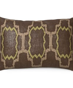 Retro Lilly Metallic Linen Pillow