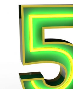 """Five """"5"""" Lights up the Neon Night"""