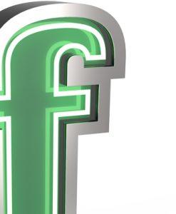 F Letter Neon Light