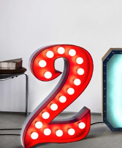 """Two """"2"""" for You Graphic Letter Lights"""
